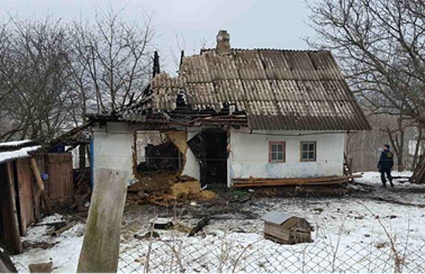 В Коровії на пожежі загинув чоловік