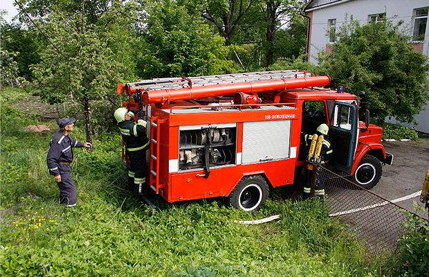 Рятувальники вчили медиків гасити пожежу у лікарні