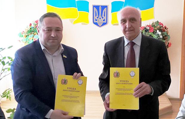 Глибоцька об'єднана громада підписала Угоду про співпрацю з Чернівецькою обласною радою профспілок
