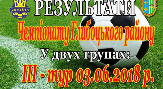 Відбувся ІІІ-й тур Чемпіонату Глибоцького району з футболу