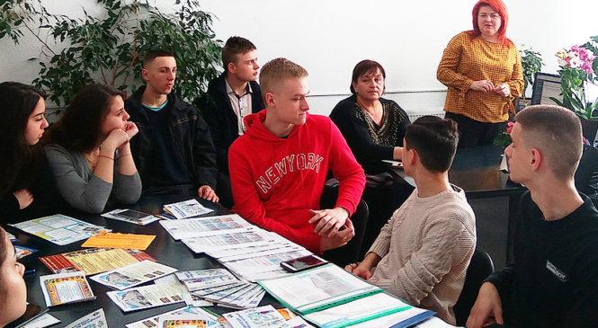 Проведено День відкритих дверей центру зайнятості для учнів Глибоцької гімназії