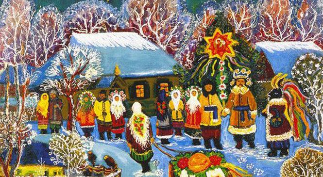 Українська народна традиція колядування тісно переплелася з церковною