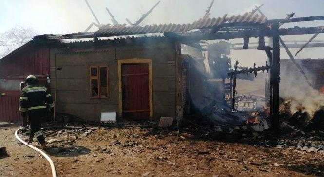 Пожежа у Тарашанах: горіла господарська будівля