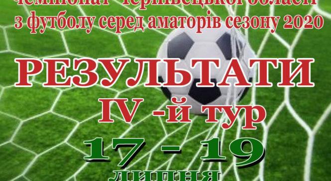 Чемпіонат Чернівецької області з футболу серед аматорів сезону 2020, IV-й ТУР