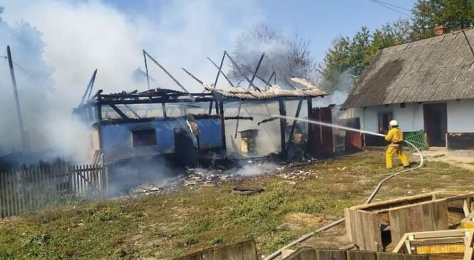 12 вересня у селі Просіка Глибоцького району виникла пожежа в господарській будівлі