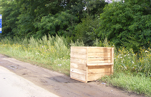 Вздовж дороги до Порубного встановили ящики для сміття