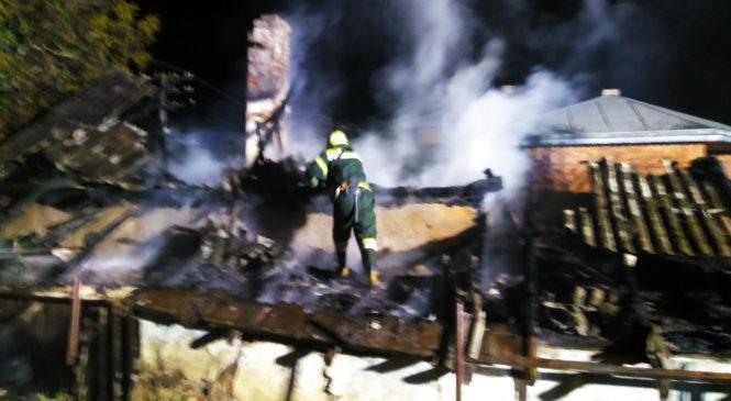Вечірня пожежа у Глибоці біля залізничної колії