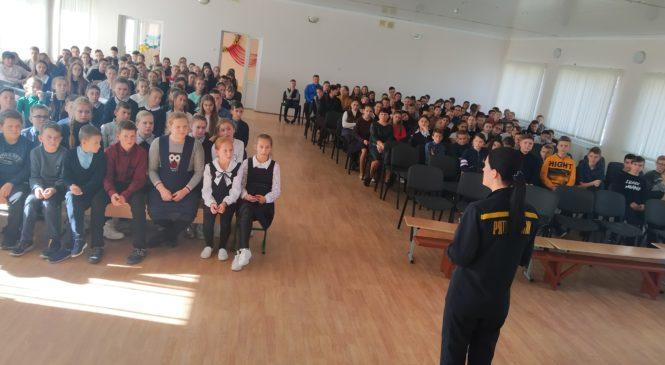 Рятувальники Глибоцького РС У ДСНС, відвідали Молодійську ЗОШ