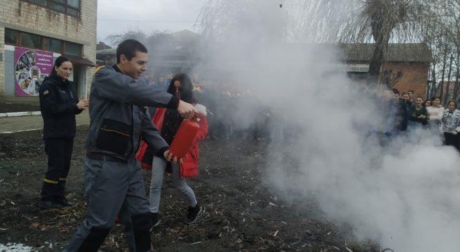 Проведено навчання в Глибоцькому професійному ліцеї з пожежної безпеки