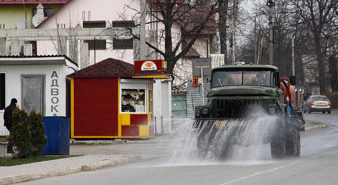 У всіх населених пунктах Чернівецької області проведуть дезінфекцію вулиць