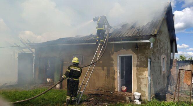 У селі Михайлівка сталася пожежа у господарській будівлі