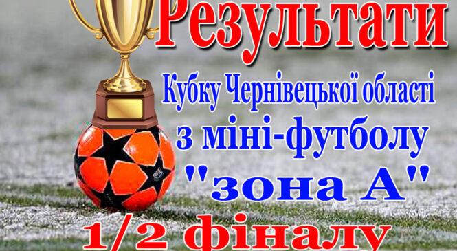 """Результати півфіналу Чемпіонату області з міні-футболу  """"зона А"""""""