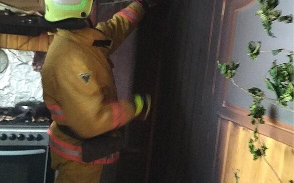 У житловому будинку пожежа знищила деревяну та пластикову вагонку