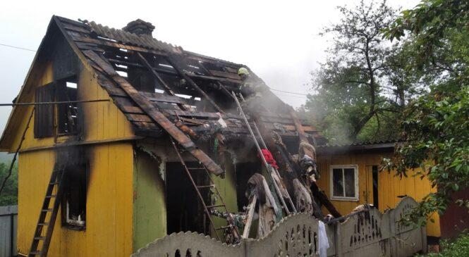 У селі Турятка під час пожежі було  знищено приміщення літньої кухні та горища