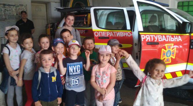 Дітлахи з дитячого закладу «Крутий кід» відвідали державну пожежно-рятувальну частину