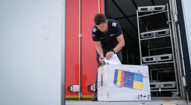 """У пункті пропуску """"Сірет-Порубне"""" Румунія передала Україні понад 100 тисяч доз вакцини від COVID-19"""