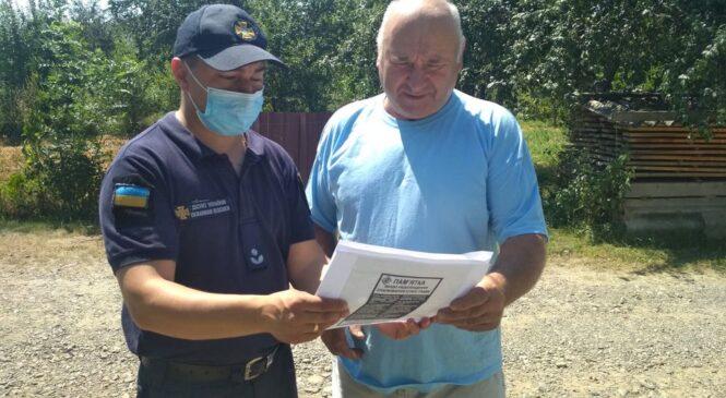 З метою профілактики виникнення пожеж у житловому секторі фахівці Служби порятунку  проводять інформаційно-роз'яснювальну роботу з населенням