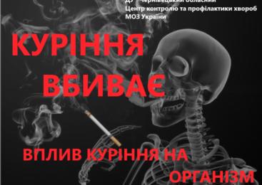 Куріння пошкоджує майже всі органи організму!